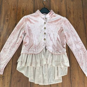 Joyfolie- Mia Joy Velour Jacket/Blazer Size 12